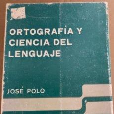 Libros de segunda mano: ORTOGRAFÍA Y CIENCIA DEL LENGUAJE (BOLS, 5). Lote 253873595
