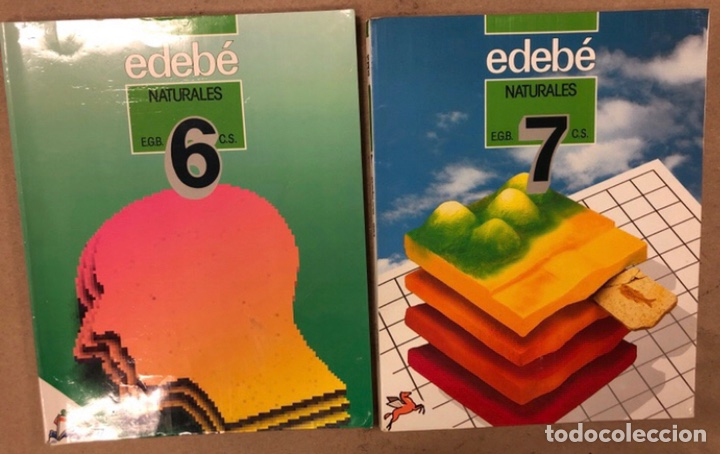 NATURALES 6º EGB Y 7º EGB. EDEBÉ (1988). 2 LIBROS. (Libros de Segunda Mano - Libros de Texto )