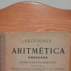 Libros de segunda mano: LECCIONES DE ARITMETICA GRADUADA - TEORICO - PRACTICA- MERCANTIL LIBRO DEL ALUMNO 1. PARTE. Lote 254451135