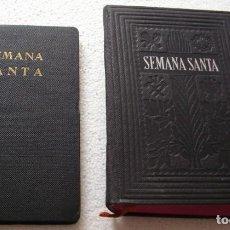 Libros de segunda mano: SEMANA SANTA, LOTE DE DOS LIBROS,TRIDUO SAGRADO 1956 Y SEMANA SANTA 1943 -IMPORTANTE LEER TODO. Lote 254983545
