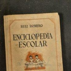 Libros de segunda mano: ENCICLOPEDIA ESCOLAR LUIS ROMERO. Lote 255932265