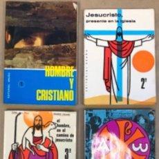 Libros de segunda mano: LOTE DE 4 LIBROS DE RELIGIÓN (1º, 2º, 3º Y 4º CURSO). EDITORIAL BRUÑO 1969/70/71.. Lote 147046394