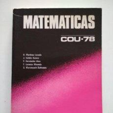 Libros de segunda mano: MATEMATICAS COU-78 EDITORIAL BRUÑO. Lote 260395975
