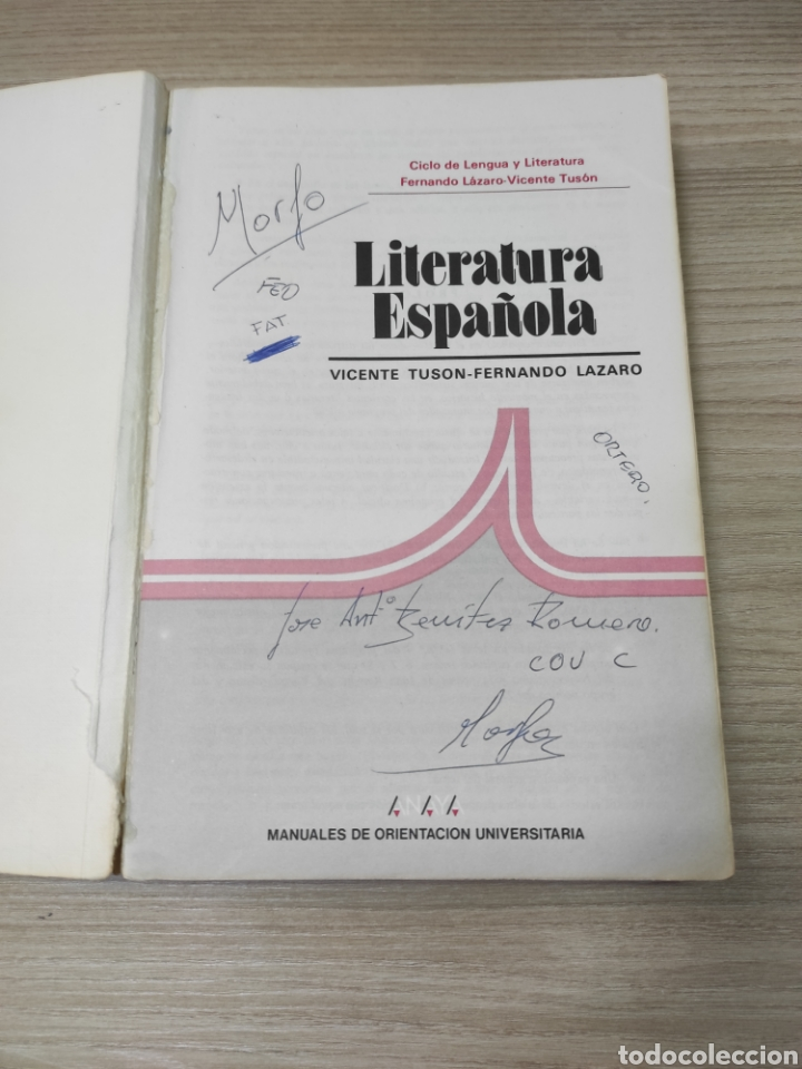 Libros de segunda mano: Libro literatura española. Vicente Tyson, Fernando Lázaro. Anaya - Foto 2 - 261934530
