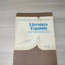 Libros de segunda mano: LIBRO LITERATURA ESPAÑOLA. VICENTE TYSON, FERNANDO LÁZARO. ANAYA. Lote 261934530