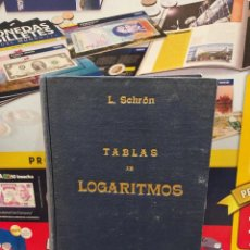 Libros de segunda mano: TABLAS DE LOGARITMOS.....L.SCHRON......1947..... Lote 261970045