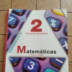 Libros de segunda mano: MATEMATICAS 2º ESO. Lote 262215940