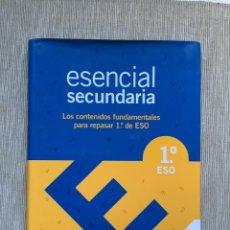 Libros de segunda mano: ESENCIAL SECUNDARIA. CONTENIDOS ESENCIALES 1 ESO. SANTILLANA.. Lote 262300770