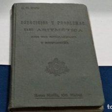 Libros de segunda mano: LIBRO EJERCICIOS Y PROBLEMAS DE ARITMÉTICA CON SUS RESOLUCIONES Y RESPUESTAS - G.M. BRUÑO. Lote 262326850