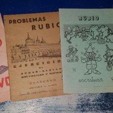 Libros de segunda mano: LOTE 4 CUADERNOS: 3 CUADERNOS RUBIO Y 1 CALCULO ATRACTIVO N° 11. Lote 262799180