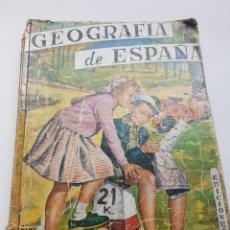 Livros em segunda mão: GEOGRAFÍA DE ESPAÑA EDICIONES SM PRIMER CURSO 1957. Lote 264540034