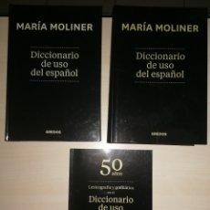 Libros de segunda mano: DICCIONARIO DE USO DEL ESPAÑOL. MARÍA MOLINER. 50 AÑOS. GREDOS. Lote 267294564