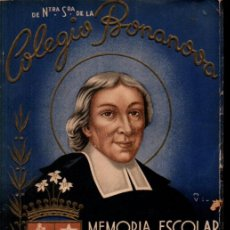 Libros de segunda mano: MEMORIA ESCOLAR COLEGIO BONANOVA 1942-43. Lote 267377429