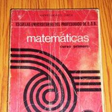 Livros em segunda mão: NORTES CHECA, ANDRÉS. MATEMÁTICAS. PRIMER CURSO : ESCUELAS UNIVERSITARIAS DEL PROFESORADO DE E.G.B. Lote 267585469