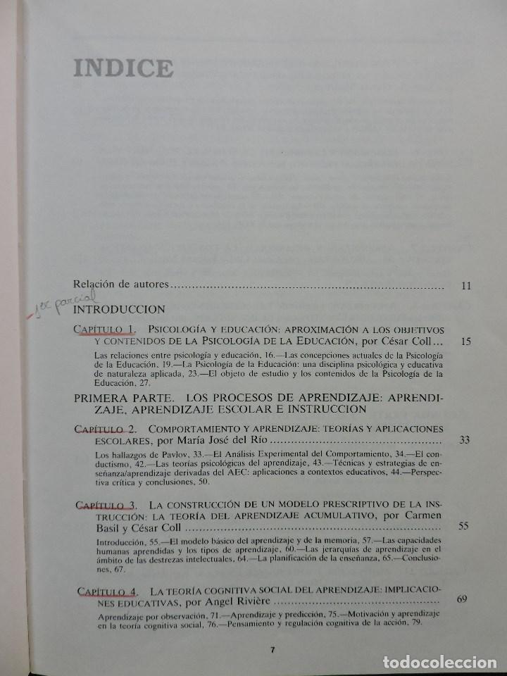 Libros de segunda mano: Desarrollo psicológico y educación II. Psicología de la Educación. César Coll, Palacios, Marchesi - Foto 3 - 269027674