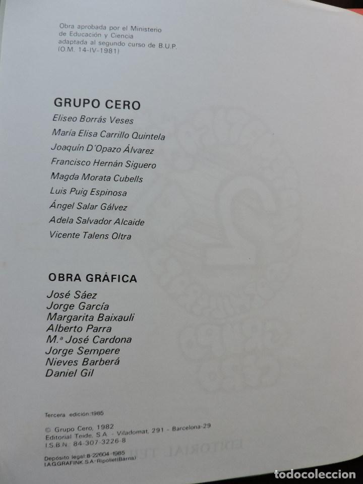 Libros de segunda mano: Matemáticas de Bachillerato volumen 2. Grupo Cero. 3ª Ed. Editorial Teide 1985 - Foto 3 - 269028259