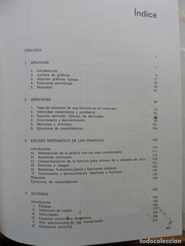 Libros de segunda mano: Matemáticas de Bachillerato volumen 2. Grupo Cero. 3ª Ed. Editorial Teide 1985 - Foto 5 - 269028259