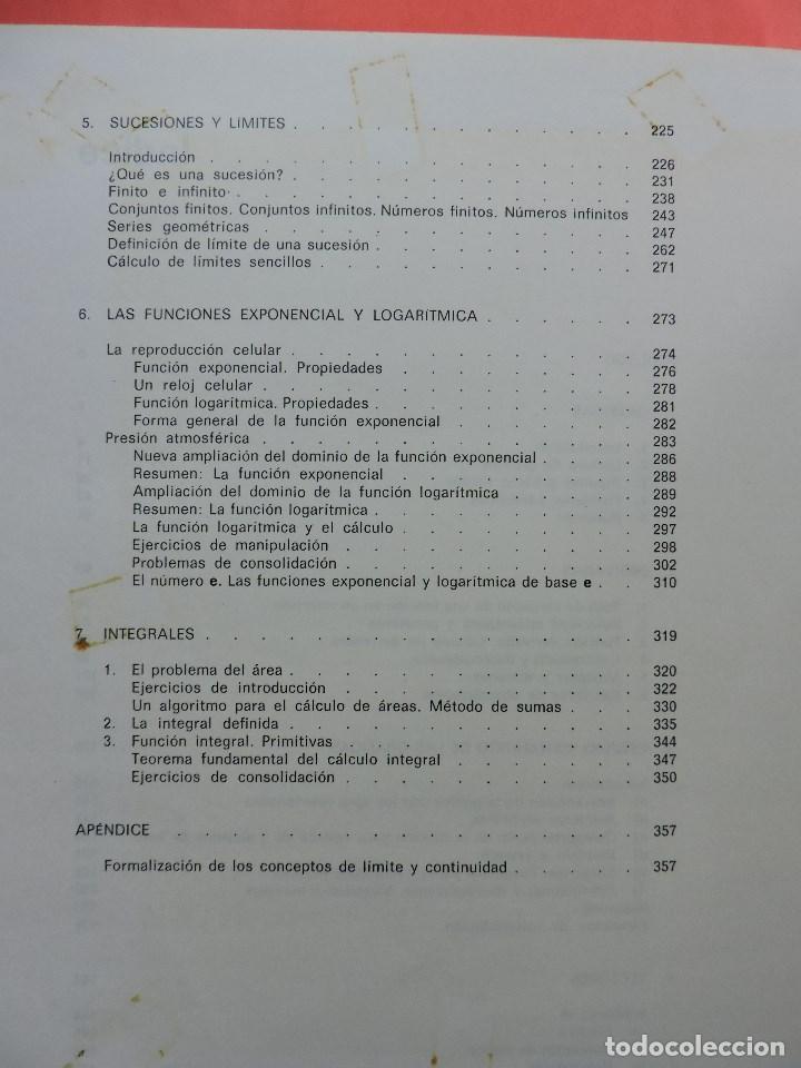 Libros de segunda mano: Matemáticas de Bachillerato volumen 2. Grupo Cero. 3ª Ed. Editorial Teide 1985 - Foto 6 - 269028259