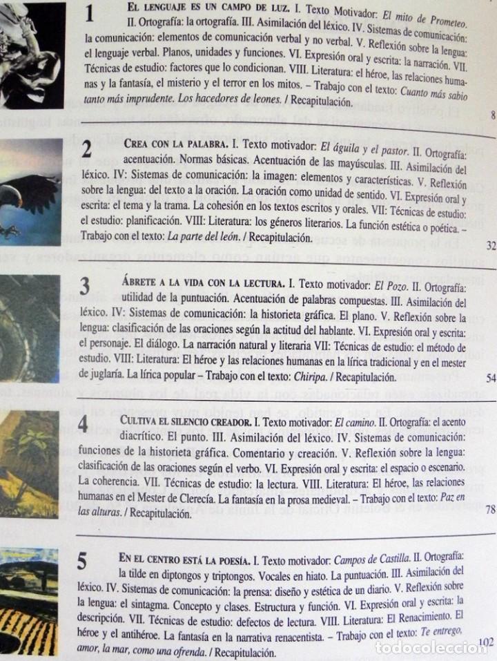 Libros de segunda mano: LENGUA CASTELLANA Y LITERATURA - LIBRO DE TEXTO - 3º DE LA ESO - EDUCACIÓN ESPAÑA - ALGAIDA AÑOS 90 - Foto 2 - 269059423