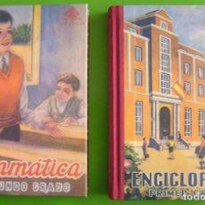 Libros de segunda mano: ENCICLOPEDIA PRIMER GRADO + GRAMÁTICA SEGUNDO GRADO (ED. EDELVIVES) FACSIMIL -NUEVOS-. Lote 270409363