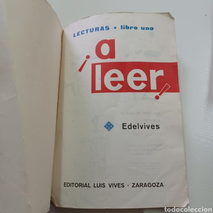 Libros de segunda mano: A LEER - LECTURAS LIBRO UNO 1967 EDELVIVES - Foto 2 - 270550028