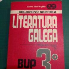 Livres d'occasion: LITERATURA GALEGA 3 BUP . COLECTIVO SEITURA .EDICIONS XERAIS 1982. Lote 272463268