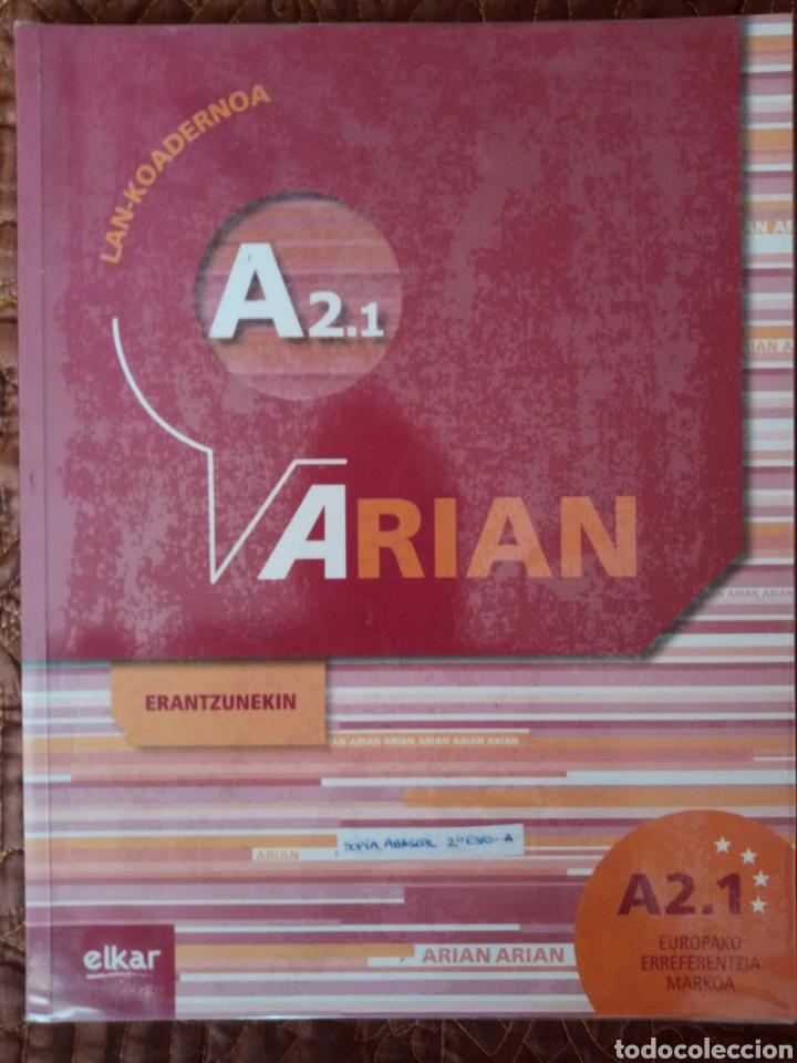 ARIAN A2.1 LAN-KOADERNOA (+ERANTZUNAK) (Libros de Segunda Mano - Libros de Texto )
