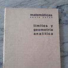 Libros de segunda mano: CUADERNO DE EJERCICIOS BARREIRO-RUBIO. MATEMÁTICAS. LÍMITES Y GEOMETRÍA ANALÍTICA. ANTIGUO. 1969.. Lote 276463268