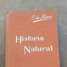 Libri di seconda mano: HISTORIA NATURAL, ODÓN DE BUEN, PYMY 38. Lote 276927478