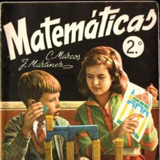 Libros de segunda mano: MATEMÁTICAS 2º CURSO S.M. 1963. Lote 277171033