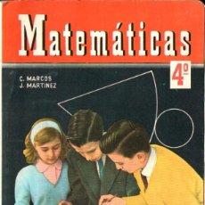 Libros de segunda mano: MATEMÁTICAS 4º CURSO S.M. 1965. Lote 277171148