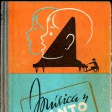 Libros de segunda mano: MÚSICA Y CANTO EDELVIVES LIBRO 1º 1968. Lote 277171988