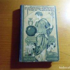 Livros em segunda mão: ELEMENTOS DE CIENCIAS FISICO-NATURALES/J.CARGOL 1946/500 GRABADOS,399 PAGINAS.. Lote 277192428