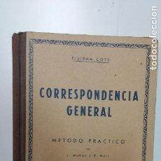 Libros de segunda mano: CORRESPONDENCIA GENERAL. SISTEMA COTS. MÉTODO PRÁTICO POR... - MUÑOZ, J. Y R. BORI.. Lote 277261533