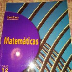 Libros de segunda mano: MATEMÁTICAS 1 CURSO. SANTILLANA SECUNDARIA. AÑO 1998. PÁGINAS 249. PESO 550 GR. SIN ESTRENAR.. Lote 278834898