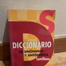 Libros de segunda mano: DICCIONARIO DE SINÓNIMOS Y ANTÓNIMOS SANTILLANA. Lote 279439778