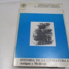 Libros de segunda mano: VV.AA HISTORIA DE LA LITERATURA I (ANTIGUA Y MEDIAVAL) W8475. Lote 279505658