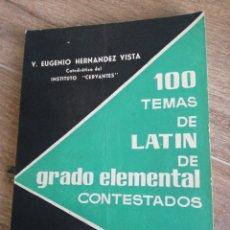 Libros de segunda mano: 100 (CIEN) TEMAS DE LATÍN DE GRADO ELEMENTAL CONTESTADOS. Lote 279515368