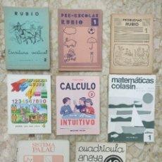 Libros de segunda mano: LOTE ANTIGUOS CUADERNILLOS RUBIO, COLASIN, CÁLCULO, PALAU, ANAYA. Lote 279579518