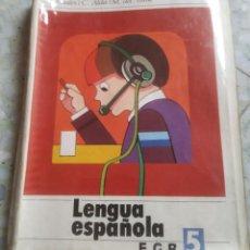 Libros de segunda mano: LENGUA ESPAÑOLA. EGB 5. EDICIONES DIDASCALIA. 1977. Lote 280732848