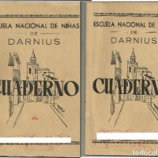 Libri di seconda mano: 2 CUADERNOS ESCOLARES *ESCUELA NACIONAL DE NIÑAS DE DARNIUS - GIRONA* - AÑO 1959-60. Lote 287612228
