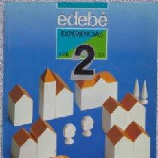 Libros de segunda mano: 2º E.G.B., EXPERIENCIAS (EDEBÉ, 1990) /// LENGUA LENGUAJE MATEMÁTICAS COMOCIMIENTO PLÁSTICA MÚSICA. Lote 287792303