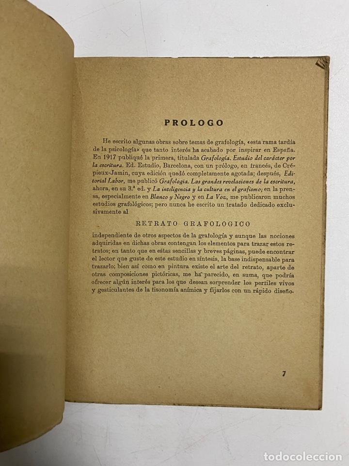 Libros de segunda mano: EL RETRATO GRAFOLOGICO EN 6 LECCIONES CON 87 EJEMPLOS. MATILDE RAS. ED. CASA GOÑI. MADRID, 1947 - Foto 3 - 287816598