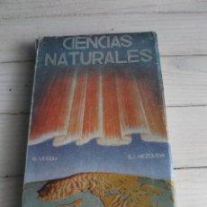 Libros de segunda mano: CIENCIAS NATURALES SEPTIMO CURSO 1945 1ª EDICIÓN RAFAEL VERDÚ Y EMILIO L. MEZQUIDA. Lote 288393123
