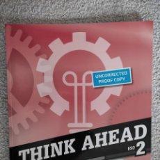 Libros de segunda mano: THINK AHEAD WORKBOOK ESO 2. BURLINGTON. Lote 289870058