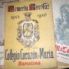Livres d'occasion: 4 MEMORIA ESCOLAR COLEGIO CORAZON DE MARIA . BARCELONA 1944 1945 - 46 1954 - 55 1950 - 51. Lote 292400783
