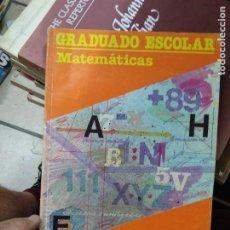 Livros em segunda mão: GRADUADO ESCOLAR MATEMÁTICAS, ED SANTILLANA. EDUCACIÓN DE ADULTOS. ARQ-486. Lote 293791603