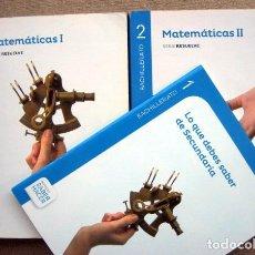 Libros de segunda mano: MATEMÁTICAS I Y II. SERIE RESUELVE. BACHILLERATO 1 Y 2. SANTILLANA. Lote 296016028