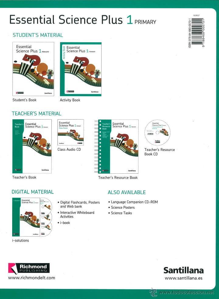 Libros: ESSENTIAL SCIENCE PLUS 1 PRIMARY ACTIVITY. RICHMOND SANTILLANA. NUEVO. ISBN 9788468000701 - Foto 2 - 45875178