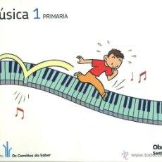 Libros: MÚSICA 1 PRIMARIA OS CAMIÑOS DO SABER GALICIA. OBRADOIRO SANTILLANA. NUEVO. ISBN 9788499720869. Lote 45875375
